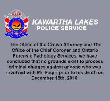 Kawartha Lakes Police Service Announce No Charges