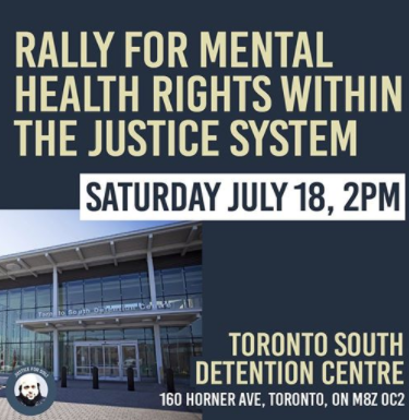 Rally for Mental Health Rights Within the Justice System Announcement